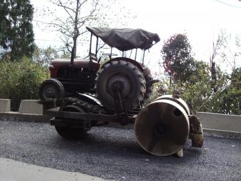 Tractor roller.