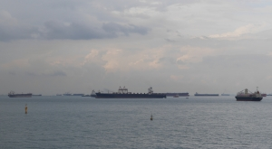 Ships off Marina Bay