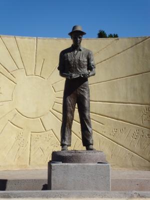 Norman E. Borlaug statue.