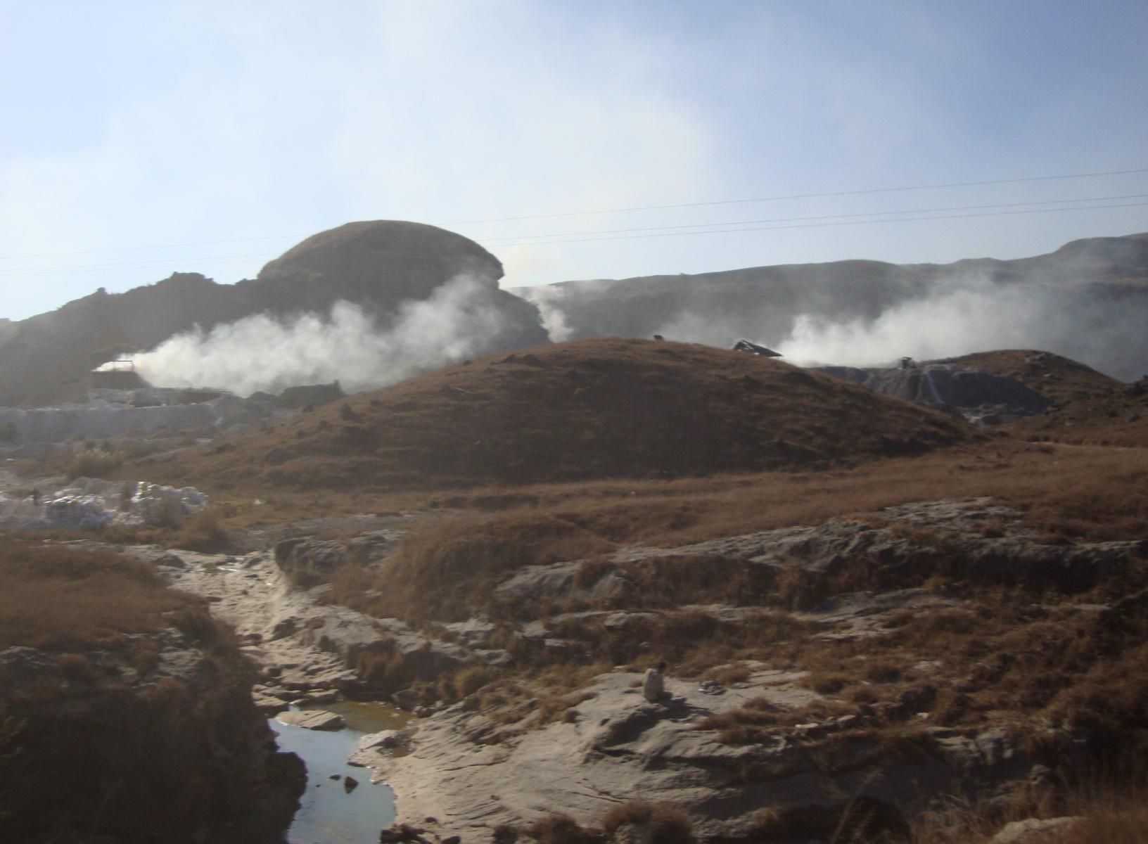 Gravel pit.