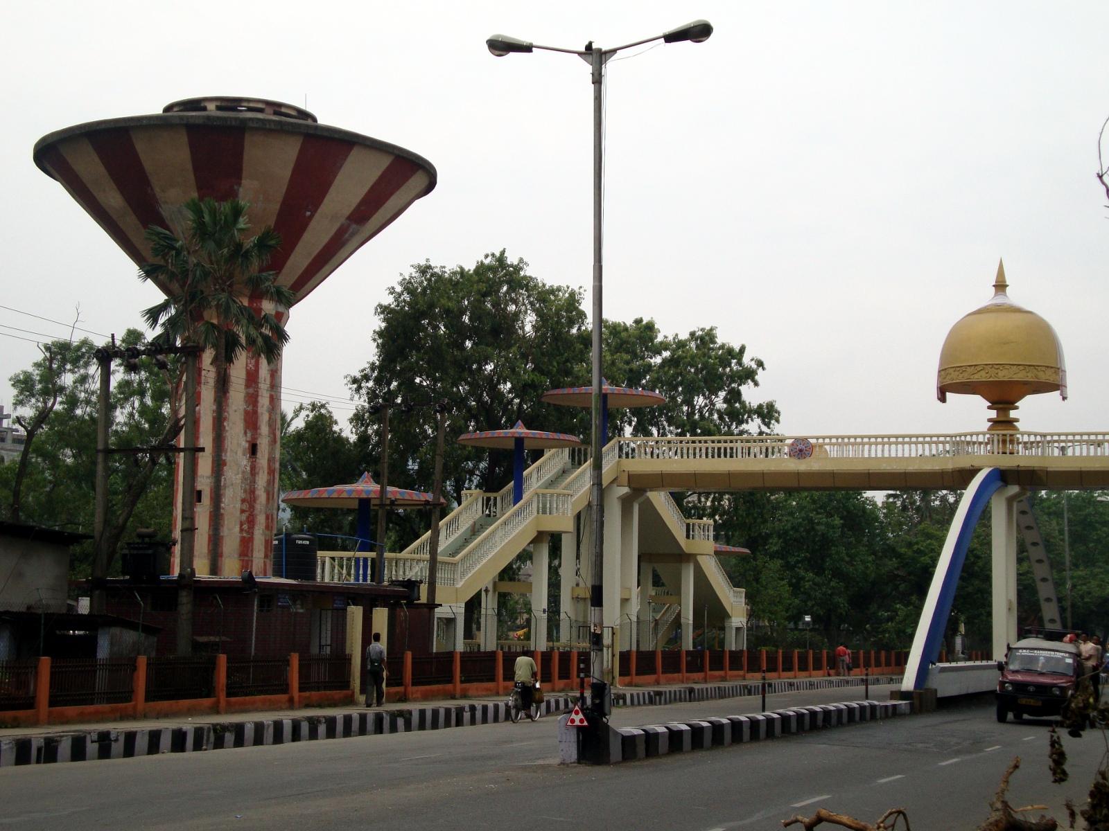 Assamese pedestrian bridge.