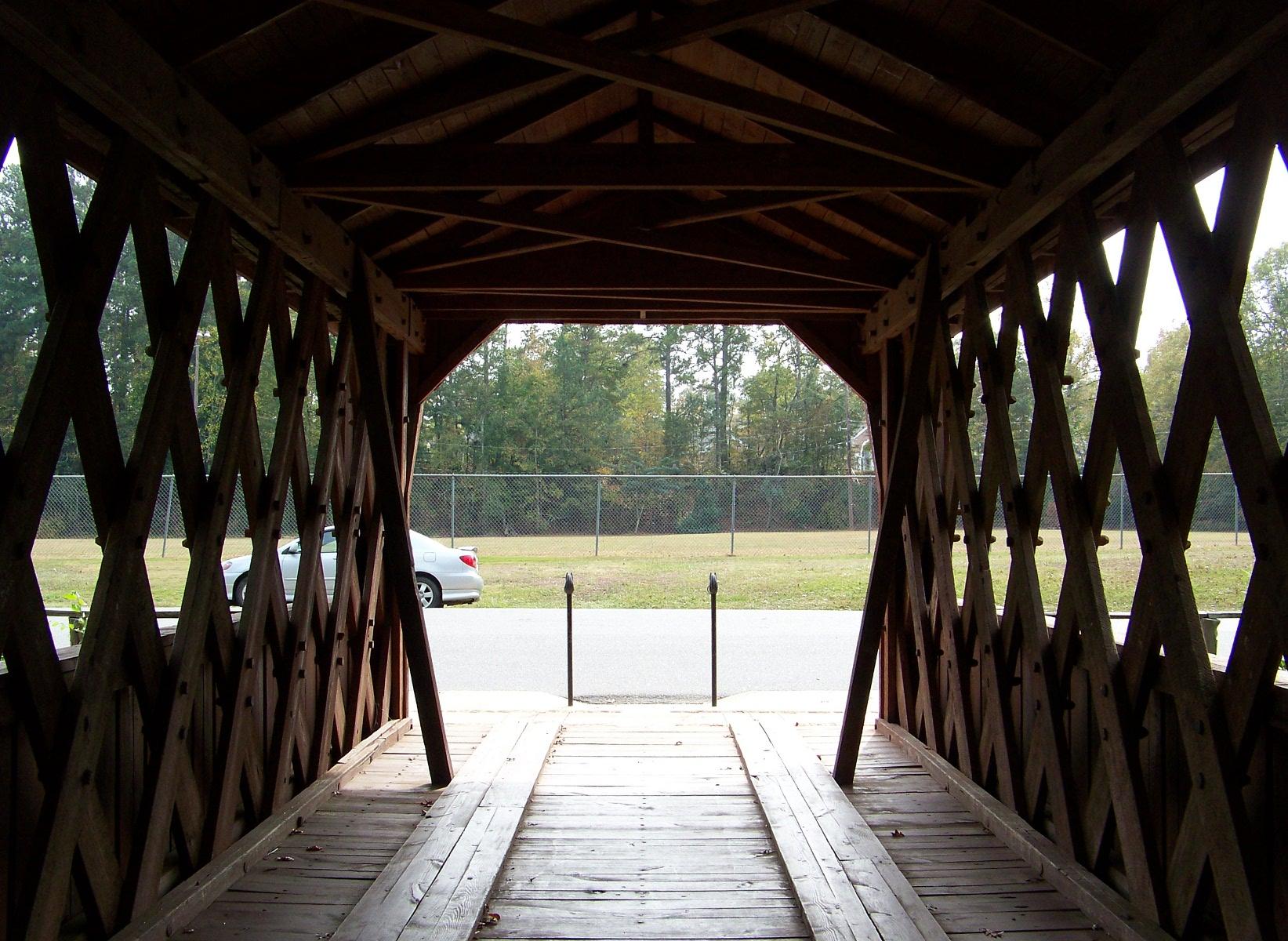 Interior of the Salem-Shotwell Bridge.