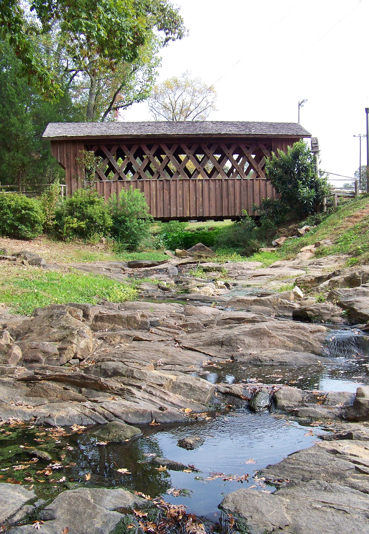 Side view of the reconstructed Salem-Shotwell Bridge.