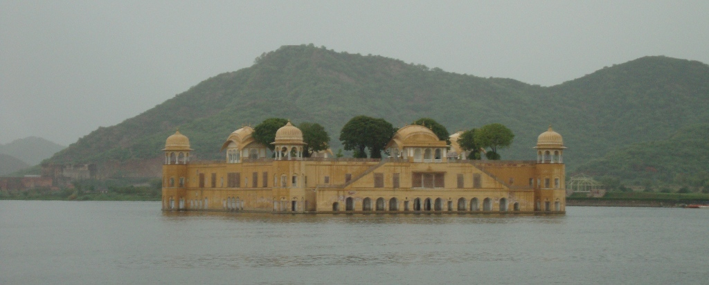 Jal Mahal, just outside of Jaipur.