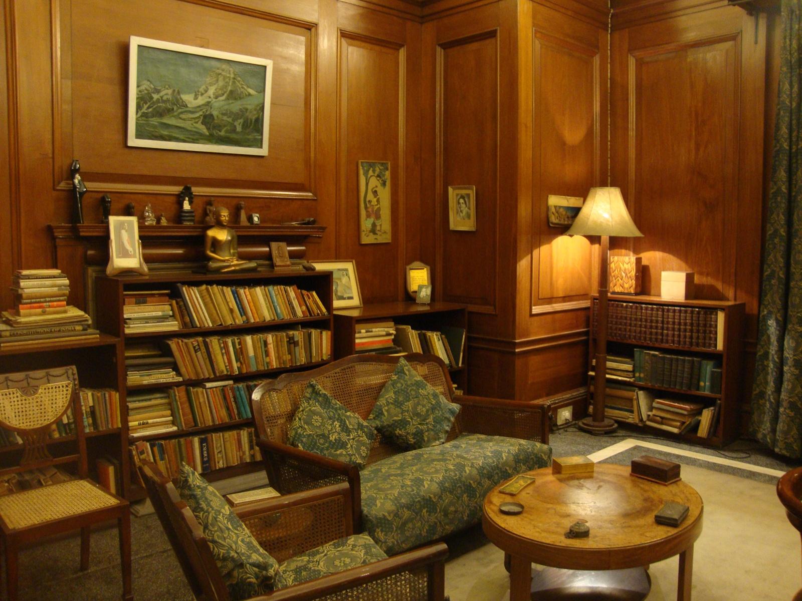 View of Nehrus office in Teen Murti Bhawan.