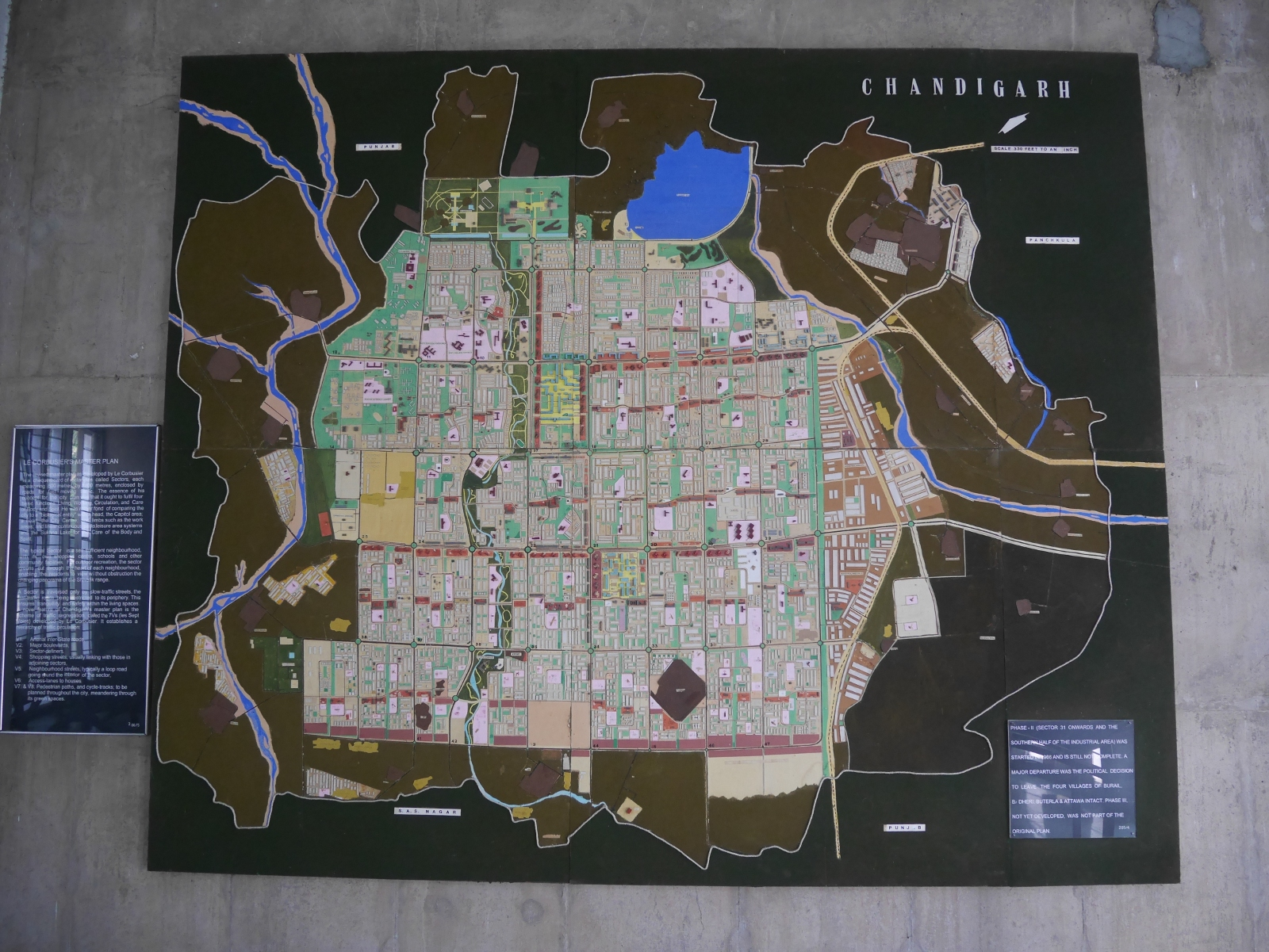 The town plan of Chandigarh, as portrayed in the city museum.