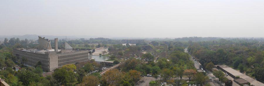 Panoramic view from the Chandigarh Secretariat.