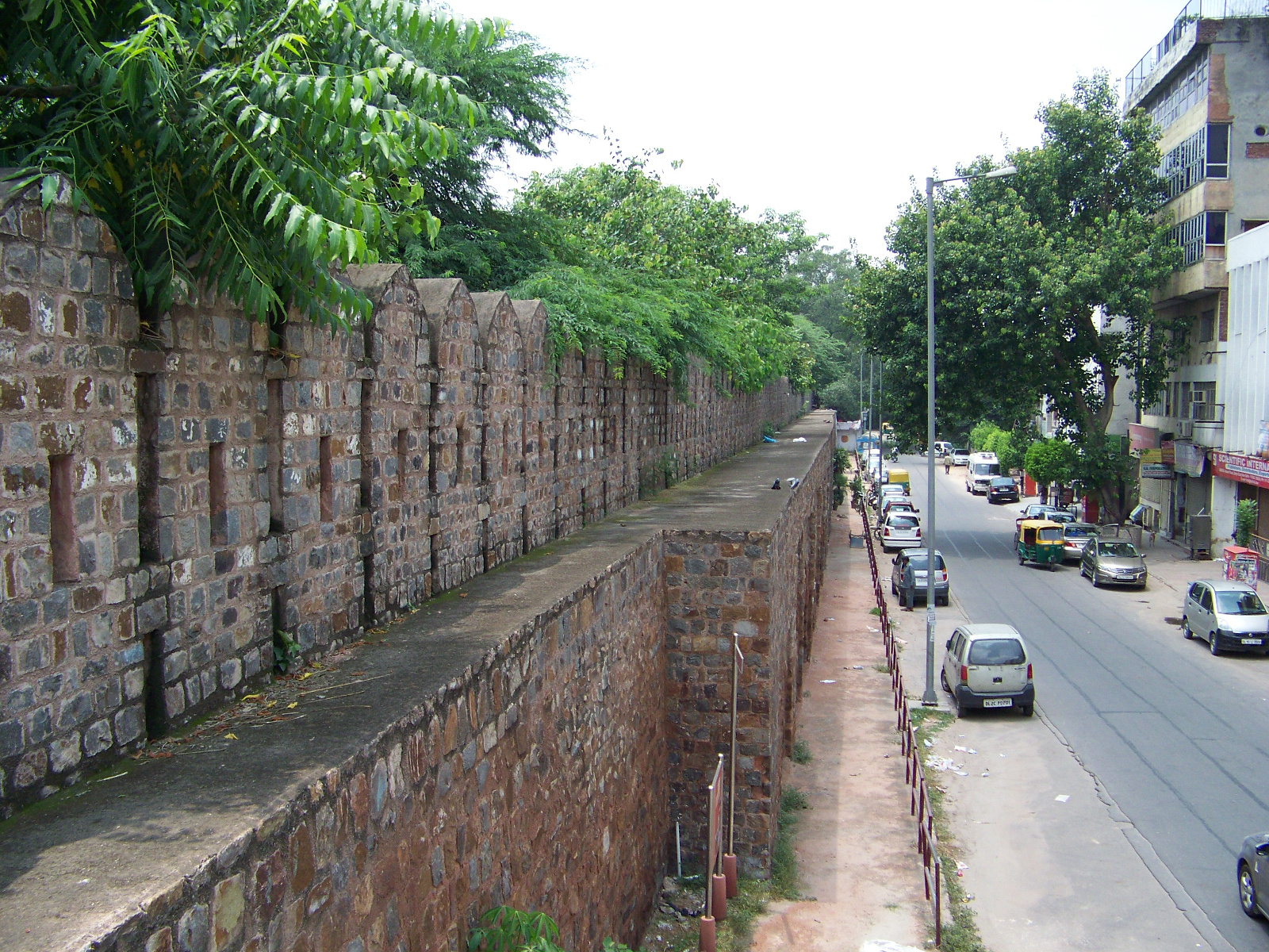 View from ramparts of Delhi's walls.
