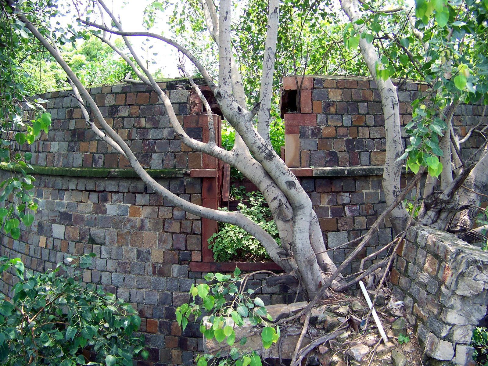 Martello tower ruins.