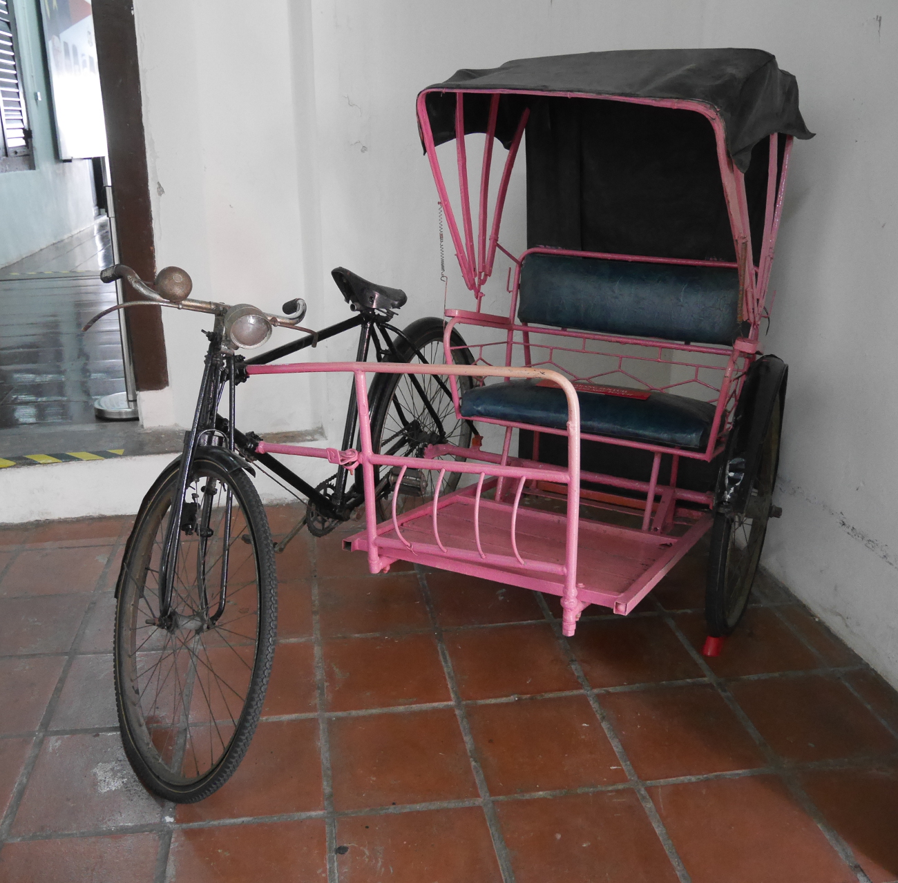 Trishaw in the History and Ethnography Museum, Malacca.