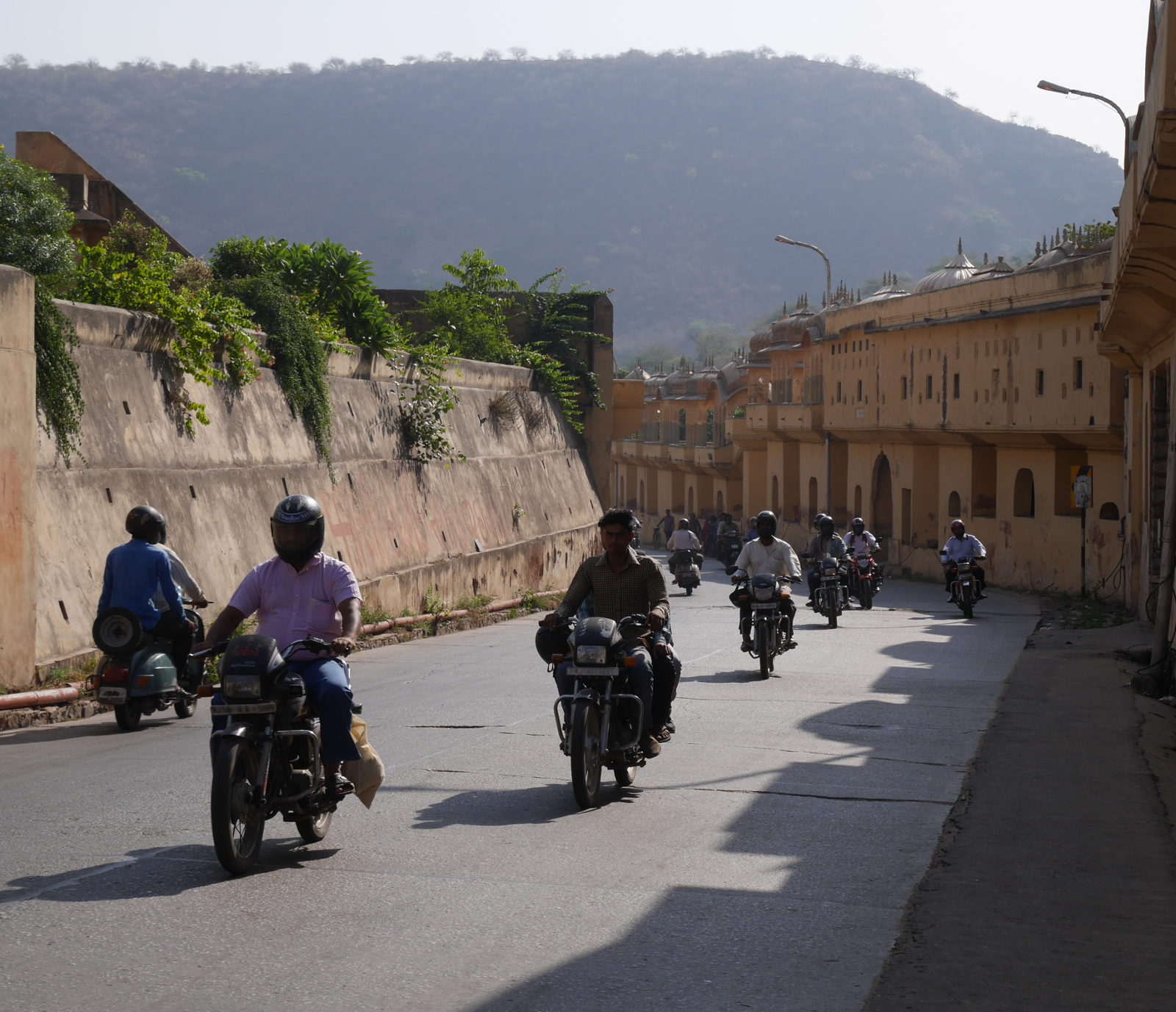 Motorcycles in the Ghat ki Gooni, Jaipur.