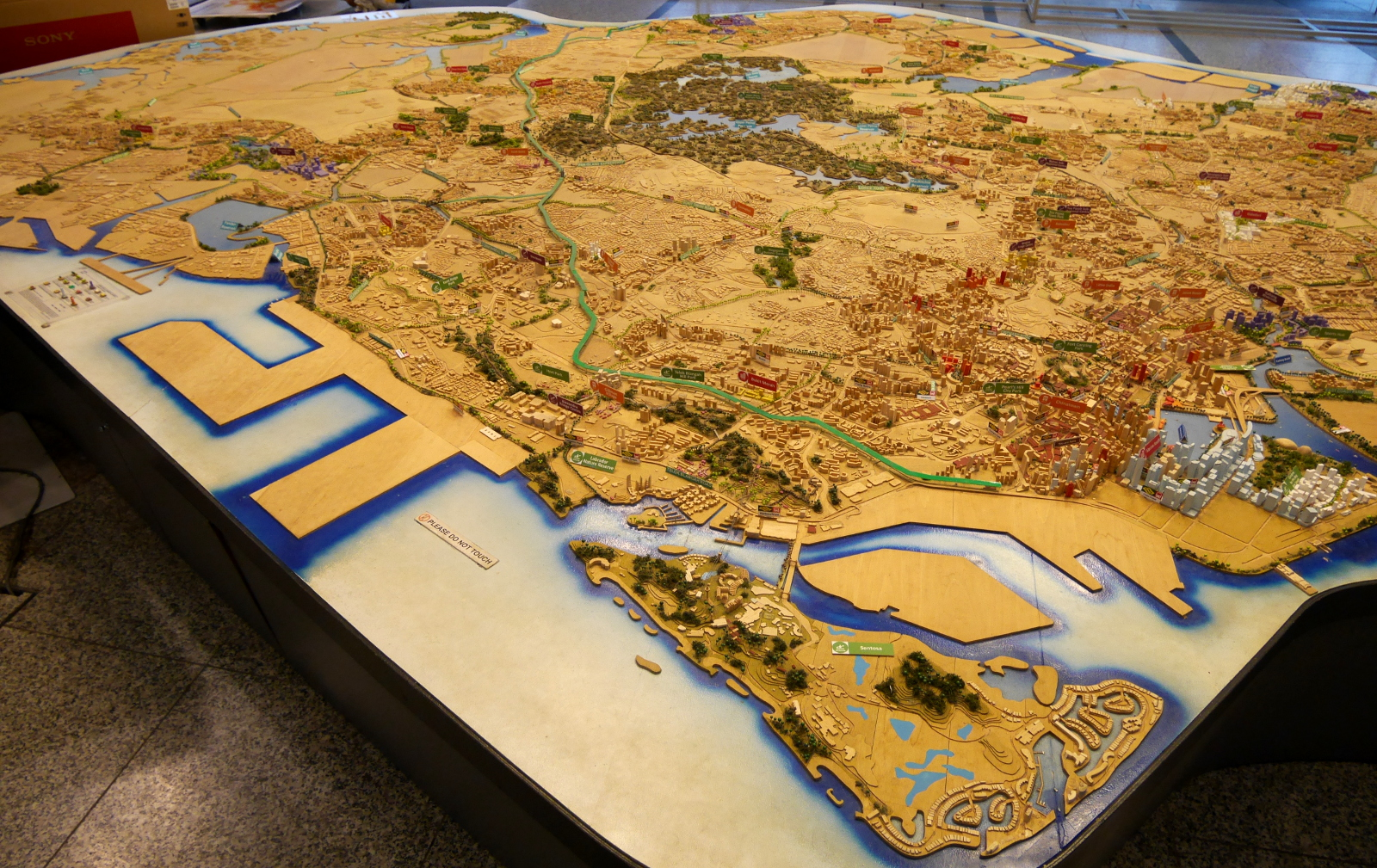 Scale model of the entire nation of Singapore, in the Singapore City Gallery.