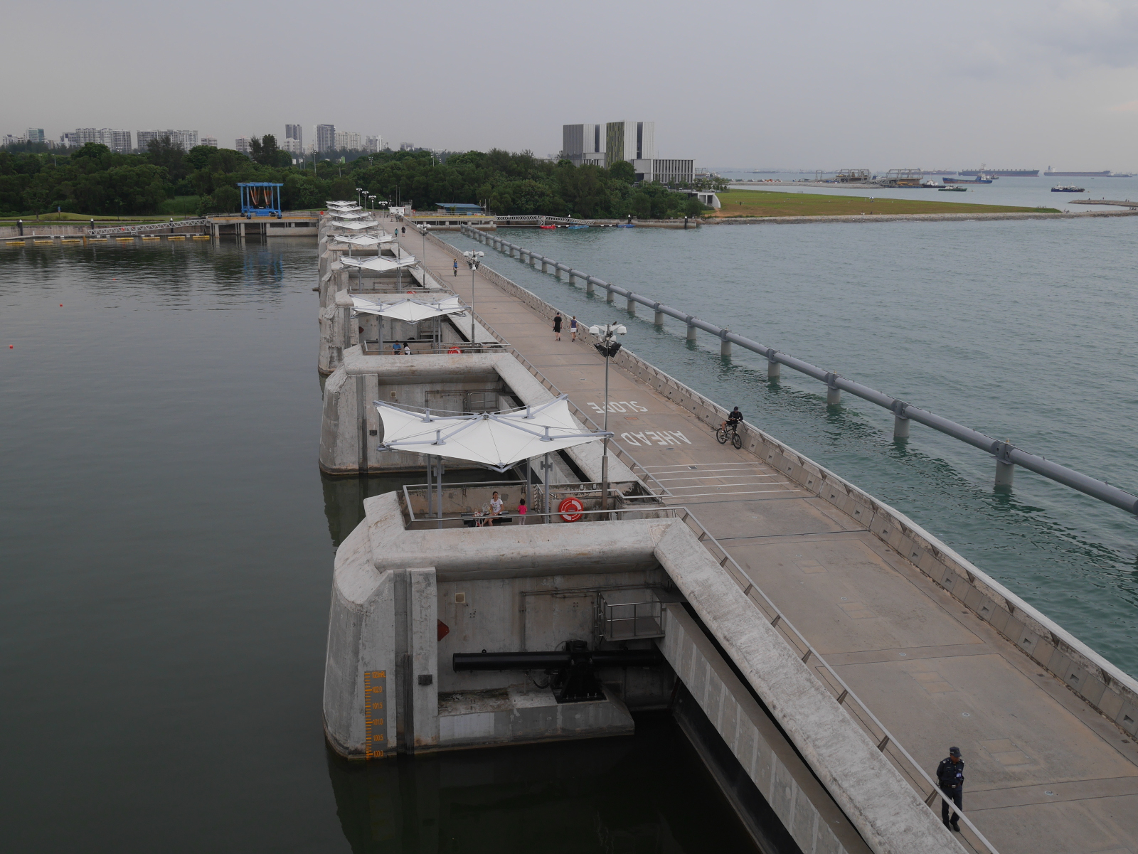 Marina Barrage, completed in 2008.
