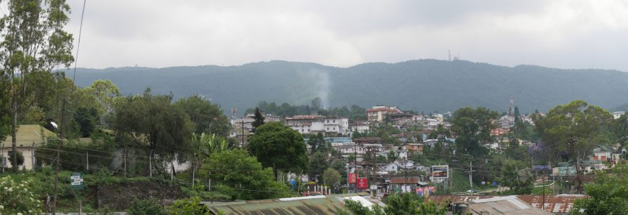 View of Shillong with Shillong Peak in the background.