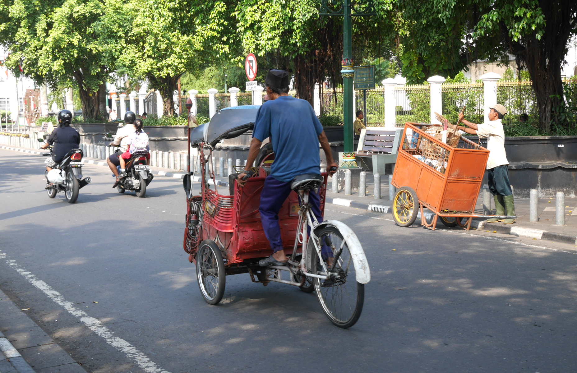 A becak in Yogyakarta.