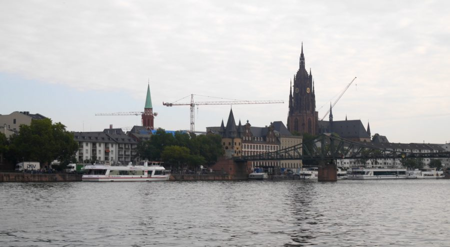 View of the Frankfurter Dom from across the Main River.