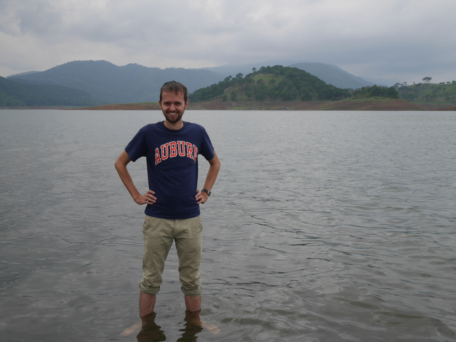 Your blogger standing in Umiam Lake.