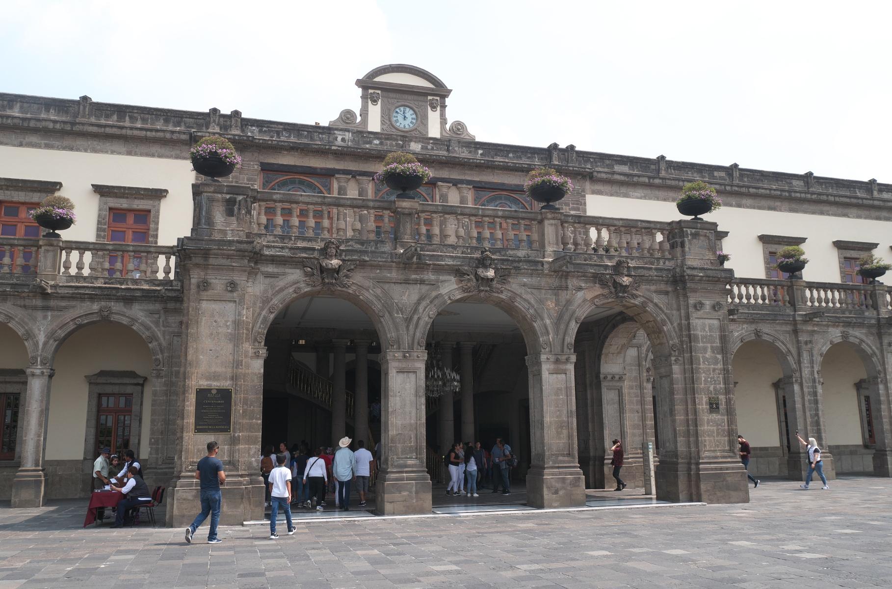 Facade of Chapultepec Castle.