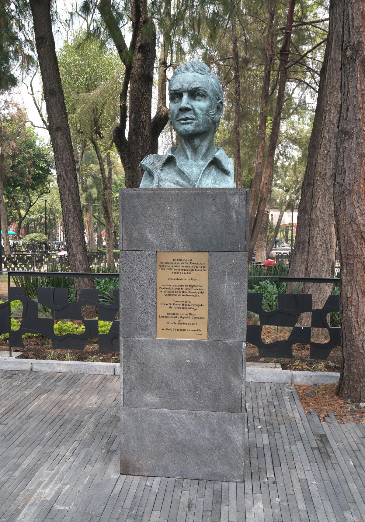 Monument to Comandante John Riley of the Sanpatricios, erected in 2010.
