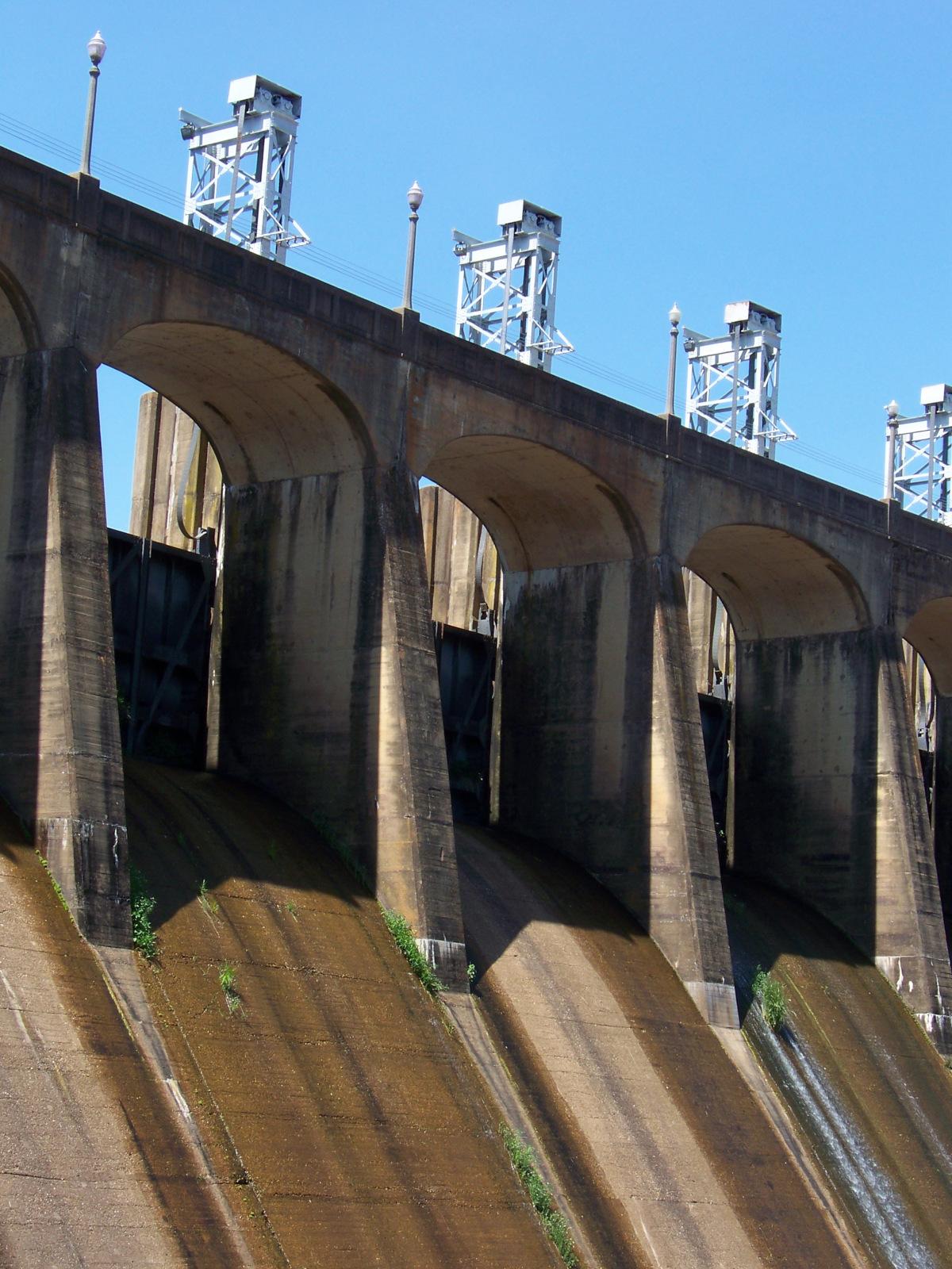 Jordan Dam spillways