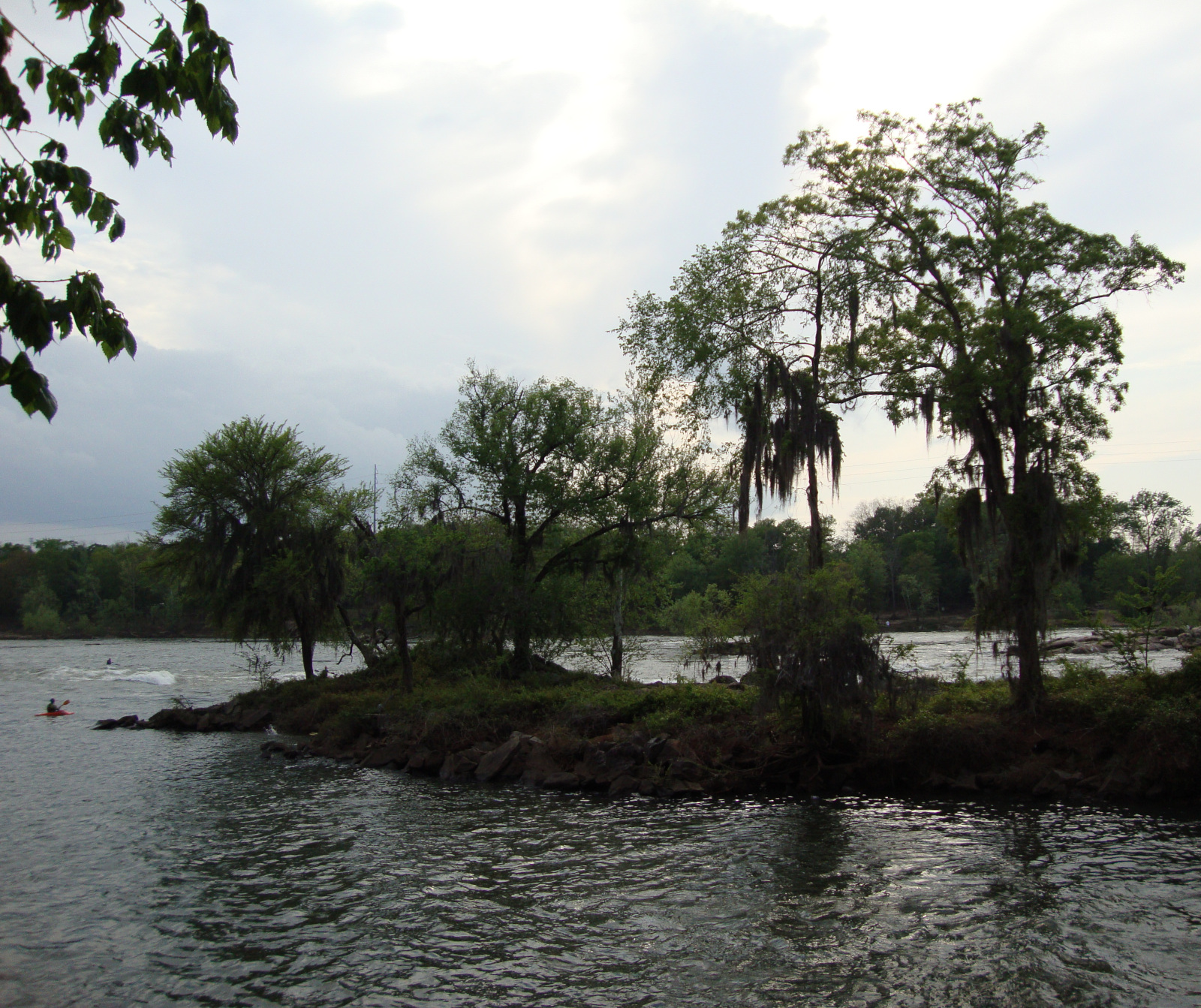 Little Chattahoochee island before Eagle & Phenix Dam removal