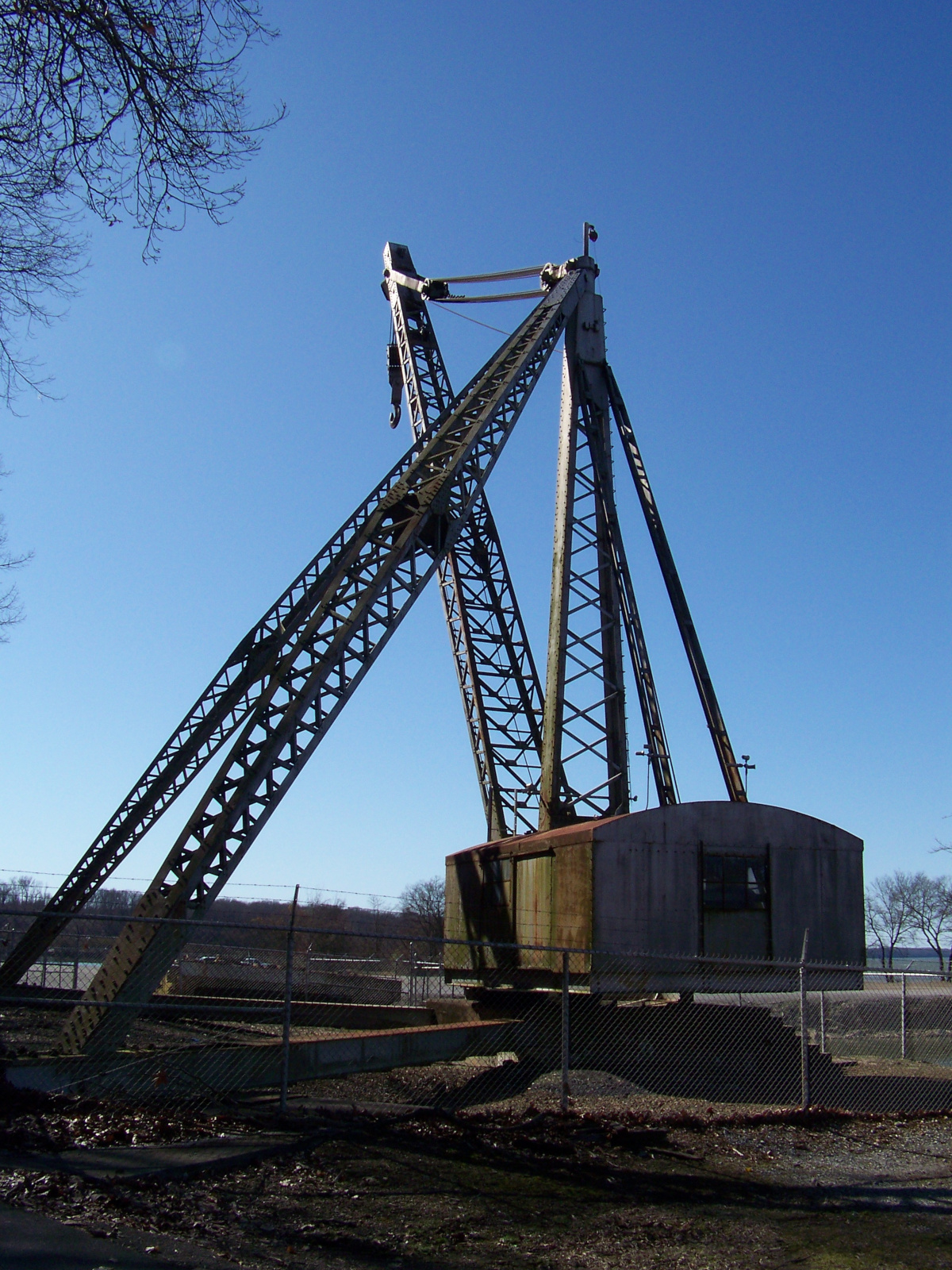 Wheeler Dam antique crane