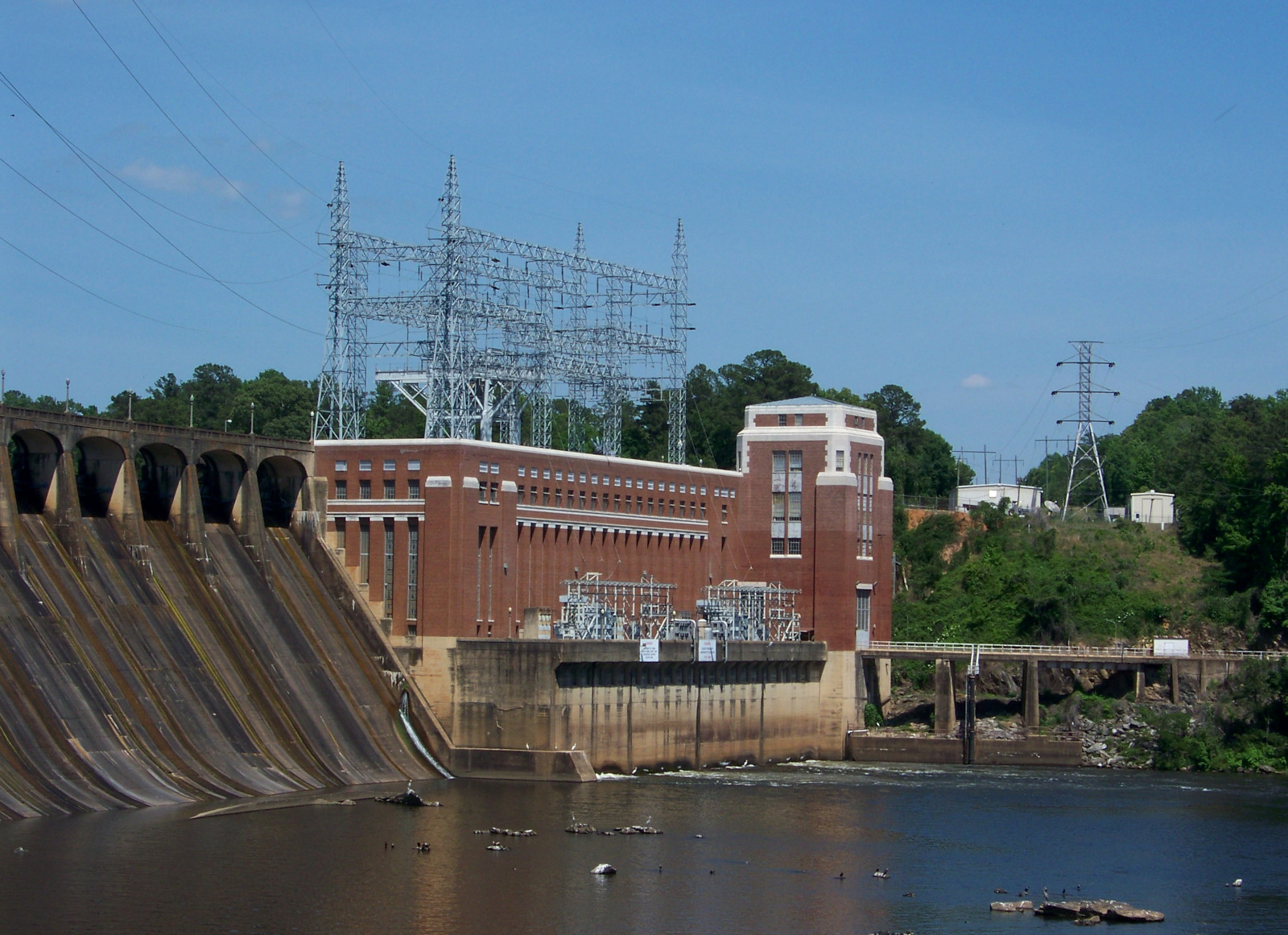 Jordan Dam powerhouse