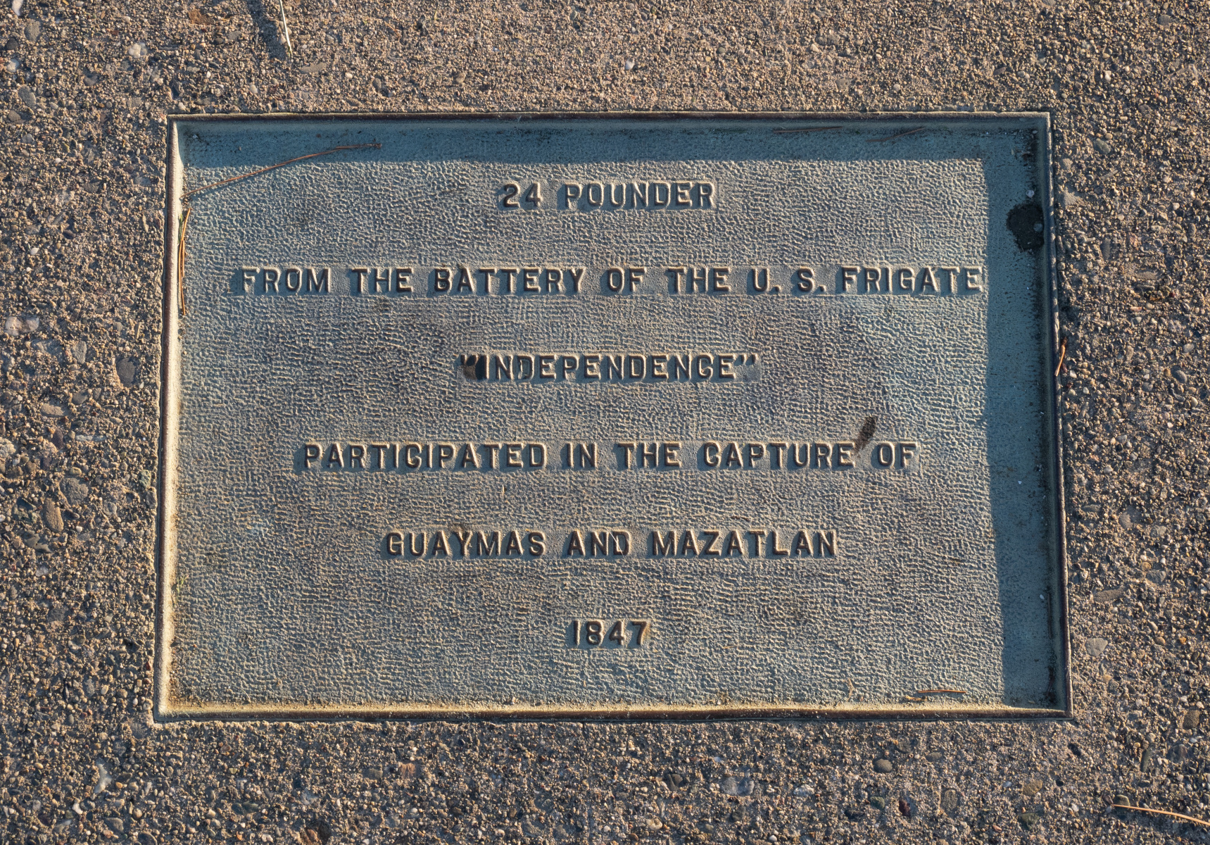 24-pounder cannon plaque
