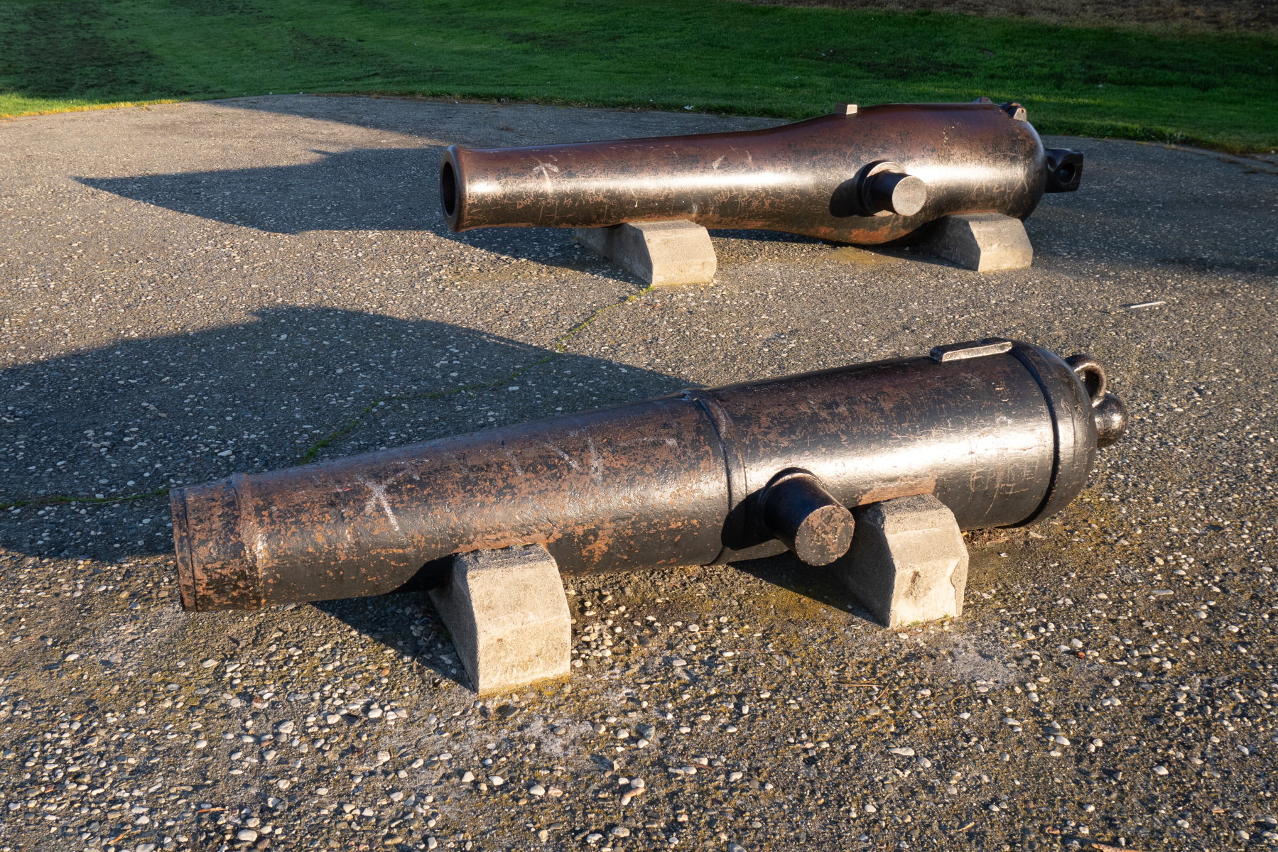 Naval cannons in Vallejo, Calif.