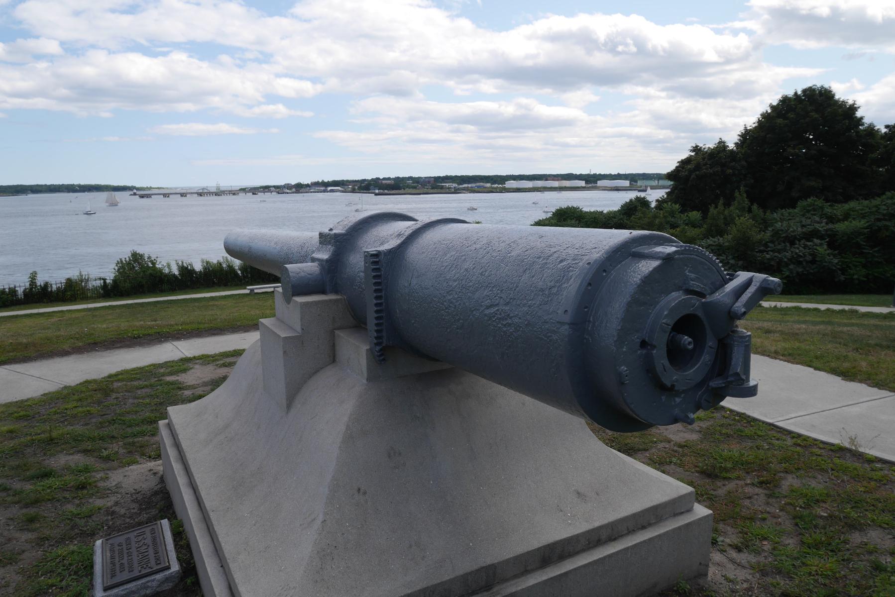 Battleship Maine gun