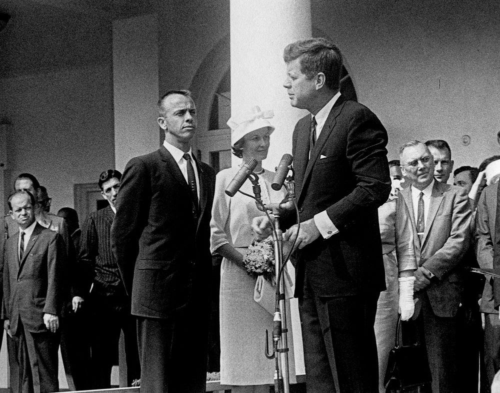 Alan Shepard at White House