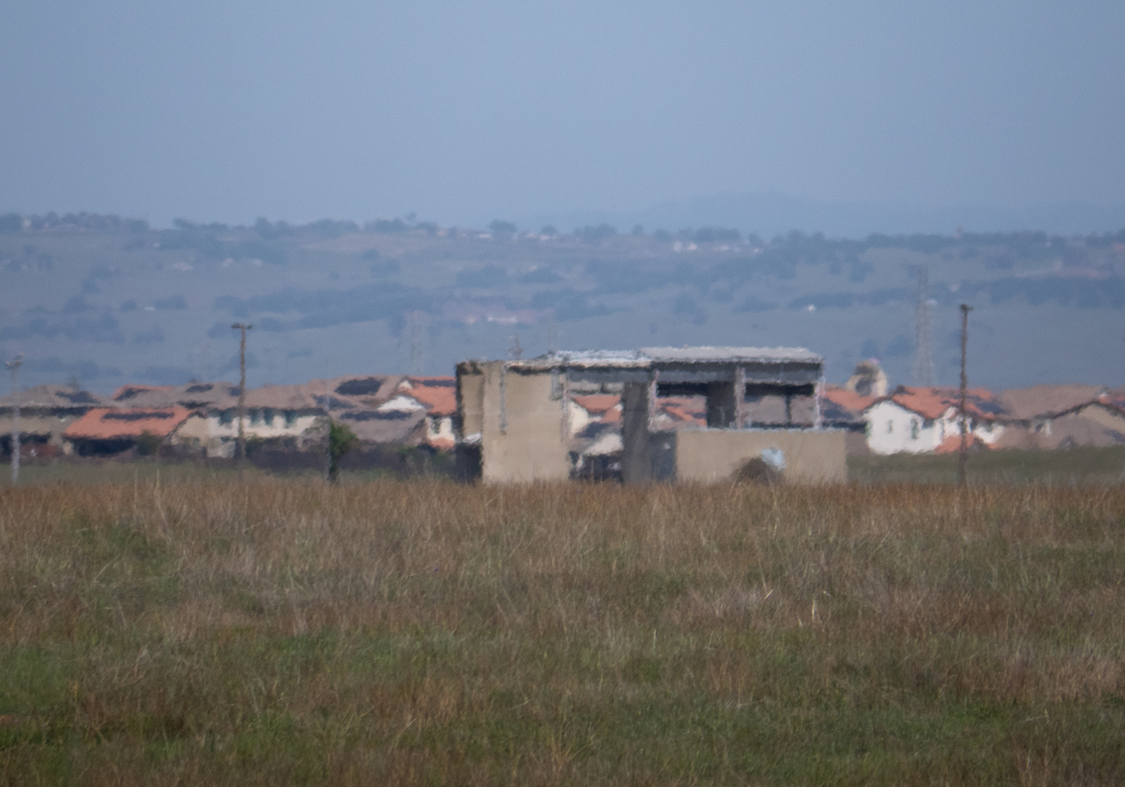 The remains of the Gamma test site, where the APS were tested. The houses in the background were not there in the 1960s when SACTO was operational.