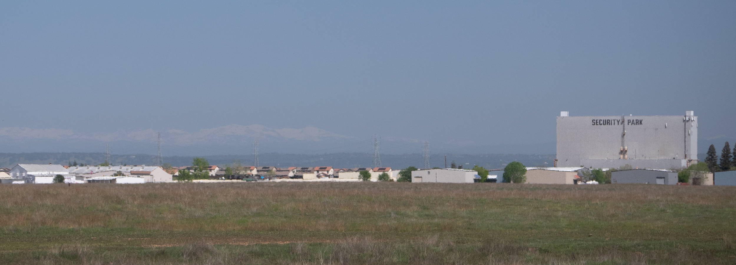 Security Park and the distant Sierra Nevada.