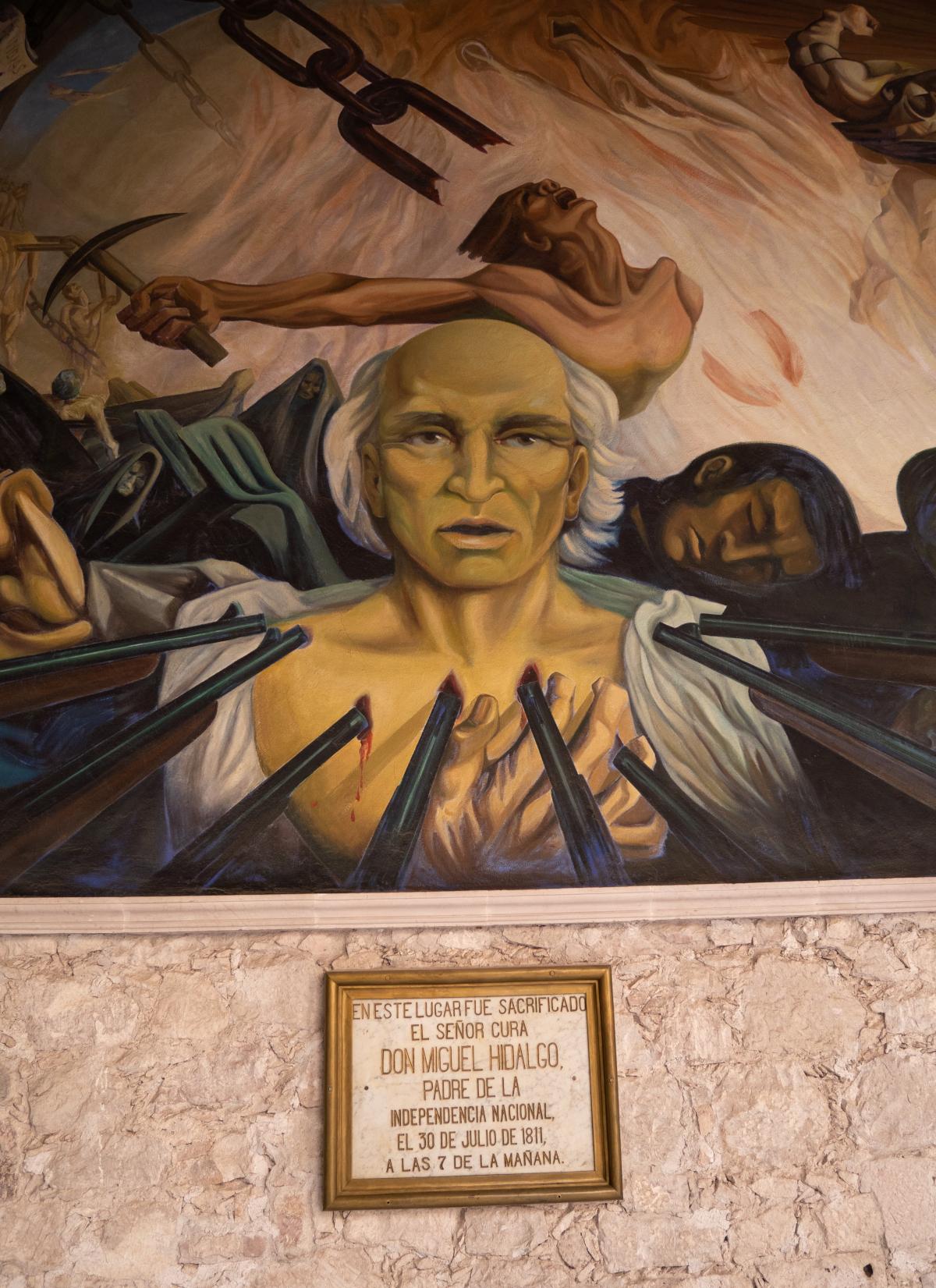 Mural of Miguel Hidalgo's death, in Palacio Gobierno, Chihuahua.