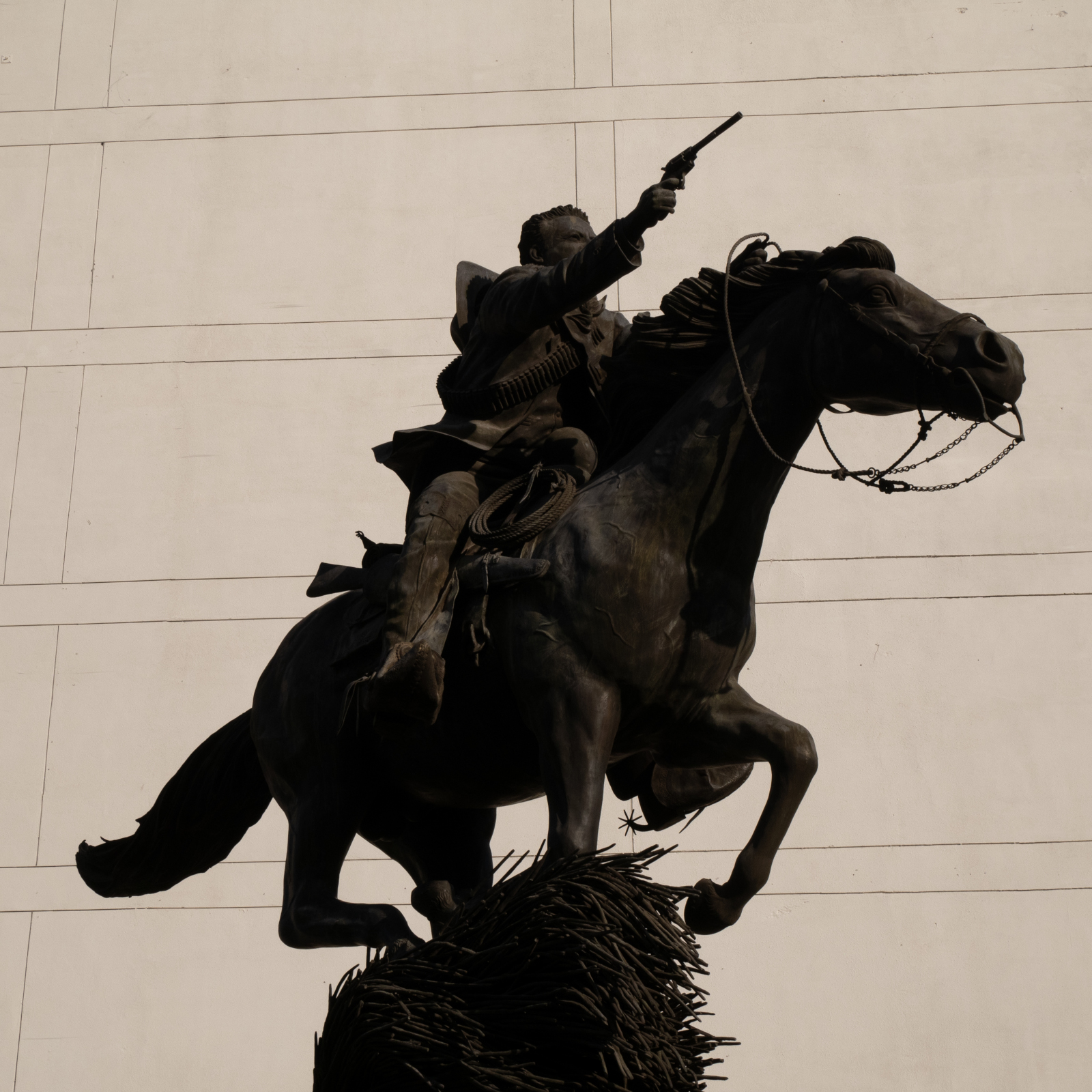 Another equestrian statue of Pancho Villa, this one in Chihuahua city.